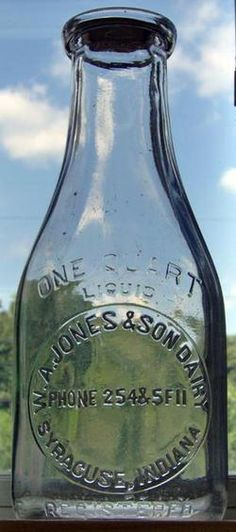 W. A. Jones & Son Dairy Milk Bottle