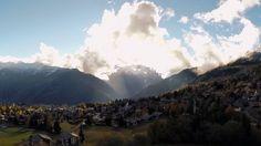 Mes premieres prise de vue aérienne avec un drone Phantom de DJI et sa nacelle zenmuse h3-2d , une gopro hero 3+ ,dans la station de ski de VERBIER en suisse.