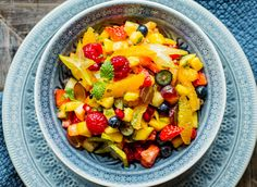 Fruit Salad, Cantaloupe, Protein, Mango, Desserts, Food, Drink, Pineapple, Fruit Salads
