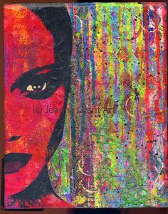 ORIGINAL Mixed Media Collage MOD Pop Art by JoannaGrantArt on Etsy Gelli Arts, Plate Art, Mixed Media Collage, Altered Art, Artsy Fartsy, Pop Art, Original Art, Doodles, My Arts