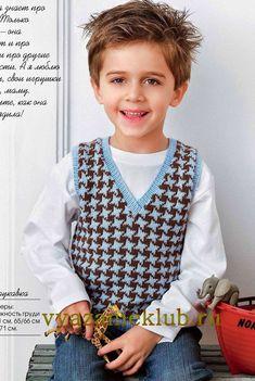Безрукавка для мальчика - Для мальчиков  - Каталог файлов - Вязание для детей