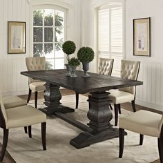 Roman Wood Dining Table