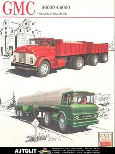 Red GMC truck brochure