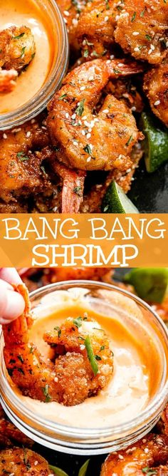 Bang Bang Shrimp is out of this world delicious! Lightly breaded and fried shrimp coated in a sweet & spicy Asian-inspired sauce with a flavorful kick. #shrimp #seafood #bangbangsauce