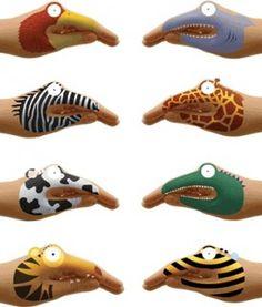 Animal Hands Temporary Tattoos from Creative Kidstuff.