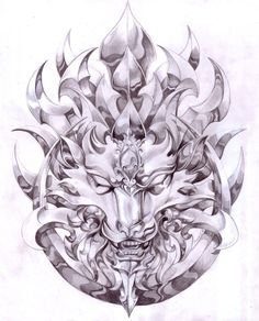 HANNYA MASK THIS GOING TO BE MY NEW TATTOO