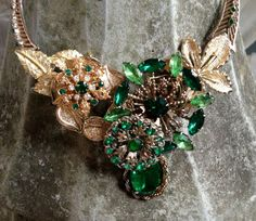 Recycled, Upcycled, Reclaimed, Vintage, Assemblage-Pamela Vintage Brooches in Gold and by GrandmasSpecialPants, $155.00