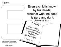 E-Even a child Bible Lessons For Kids, Bible For Kids, Proverbs 20, Grace Home, Ps, Wednesday, Cards Against Humanity, Study, Names