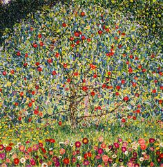 Gustav Klimt Apple Tree canvas.