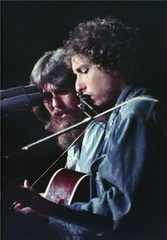 Henry Diltz | George Harrison and Bob Dylan, Bangladesh, 1971