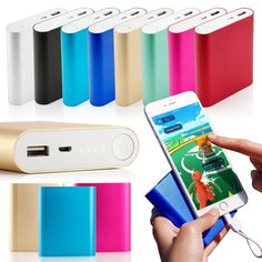 Portable 10400mAh Dual USB Battery Power Bank Charger For Cell Phone iPhone 6 6s #Drhotdeal