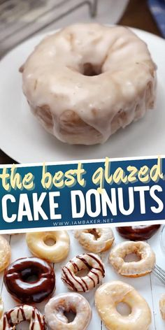 Donut worry, be happy! This Glazed Cake Donuts is covered in sweet glaze and fried to perfection. You may never need to venture out for bakery donuts again after trying this fantastic homemade recipe! The donut glaze is just as light and perfect. Try this easy dessert recipe! 276 Donut Glaze Recipes, Easy Donut Recipe, Cake Donut Recipe Fried, Amish Donuts Recipe, Homemade Donuts, Homemade Cakes, Homemade Recipe, Delicious Desserts, Yummy Food