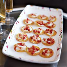 Mini Tartes Flambées // More Appetizer Recipes and Tips: http://www.foodandwine.com/cooking_guides/appetizer-recipes #foodandwine