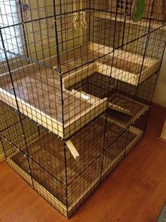 Incredible rabbit habitats made by creative humans. From the cubes, pens to custom made bunny homes, these great habitats are homes that you can make too. Diy Bunny Cage, Diy Bunny Toys, Diy Guinea Pig Cage, Bunny Cages, Rabbit Cages, Guinea Pigs, Indoor Rabbit Cage, Indoor Rabbit House, House Rabbit