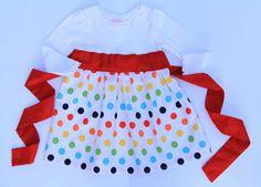 Rainbow Dots TShirt Dress by CharlieandMills on Etsy, $32.00