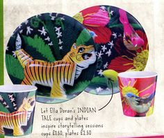 Love your home - Habitat Spring/Summer edition, Indian Tale cups and plates by Ella Doran