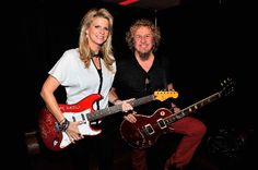 Neon Nights: Vegas pics - Entertainment / Neon - ReviewJournal.com    Sammy Hagar and wife Kari played around just before he rocked a free show for a few hundred crazed fans on Saturday at his Cabo Wabo Cantina in the Miracle Mile Shops. Photo courtesy Jeff Bottari/Wireimage