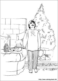 Harry Potter coloring page Harry Potter Party Pinterest