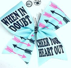 Bows by April - When in Doubt Cheer Your Heart Out Sublimated Cheer Bow, $15.00 (http://www.bowsbyapril.com/when-in-doubt-cheer-your-heart-out-sublimated-cheer-bow/)