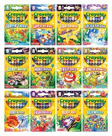 """I'm kinda obsessed with these 8 pack Crayola sets. I have them all from this year and the matching tins. The Crayola Target """"Pick your Pack"""" Exclusive Set is amaze-balls. Splish Splash, Cute School Supplies, Diy Supplies, Creative Crafts, Diy And Crafts, Kids Crafts, Crayola Set, Flower Power, Packing A Cooler"""