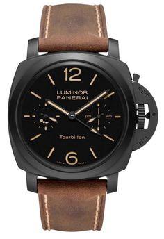 Часы наручные Officine Panerai Tourbillon GMT Ceramica PAM00396 - корпус керамика - механические часы