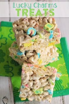 Lucky Charms Treats.....since there will be so much Friday the 13th bad luck