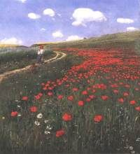 Poppies in the Field by Pál Szinyei Merse, 1902 (Hungary) Define Art, Hudson River School, Classical Art, Heart Art, Hanging Art, Types Of Art, Emerson, Hungary, Fields
