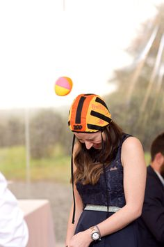 Games for wedding guests. Laura and Gav kept the fun flowing with lots of games at their Cornish wedding.