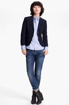 rag & bone Blazer, Shirt & rag & bone/JEAN Boyfriend Jeans  available at #Nordstrom