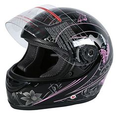 XFMT DOT Adult Pink Black Butterfly Motorcycle Street Full Face Helmet L -- Be sure to check out this awesome product. (This is an affiliate link) Full Face Motorcycle Helmets, Full Face Helmets, Helmet Brands, Sports Helmet, White Butterfly, Motorcycle Accessories, Pink Black, Street, Purpose