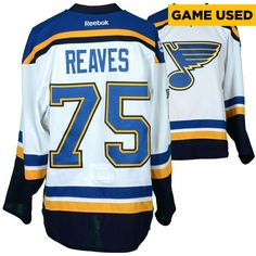 Ryan Reaves St. Louis Blues Fanatics Authentic Game-Used 2016-17 50th Anniversary Season Set 1 Road White Jersey - Worn From October 12, 2016 Through November 23, 2016