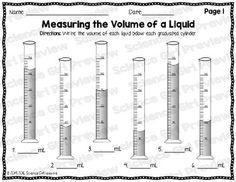 Graduated Cylinders - Measuring the Volume of a Liquid FREEBIE