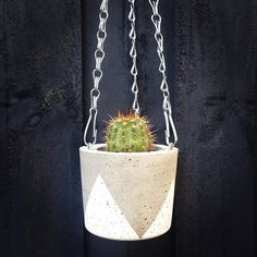 Hanging Concrete Planter Small by foxandramona on Etsy, $25.00