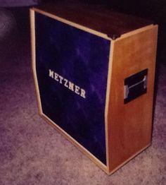 CUSTOM METZNER 4X12 GUITAR SPEAKER CABINET.