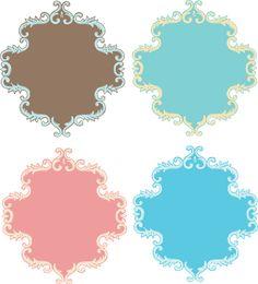 Etiquetas Retro en Colores para Imprimir Gratis.