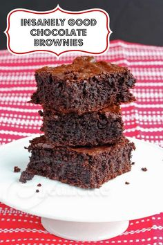 Insanely Good Chocolate Brownies © Jeanette's Healthy   Living  #glutenfree #dessert