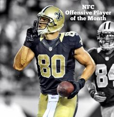 Congrats to Jimmy Graham on being named the NFC offensive Player of the Month! #Saints
