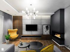 SALON JASTRZĘBIE ZDRÓJ - Mały salon, styl nowoczesny - zdjęcie od SKAZANI NA DESIGN Studio Architektury