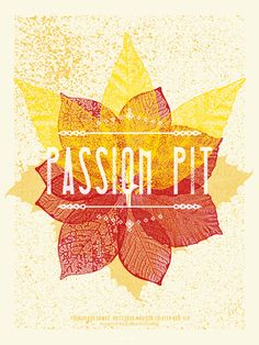 GigPosters.com - Passion Pit - Young Blood Hawk - Hollerando