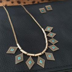 Follow Me Close Necklace - Bronze & Turquoise #gypset #gypsy #gypsyjewellery #jewellery #earrings #turquoise #turquoiseearrings #sterlingsilver #bohemianstyle #festivalstyle #festival #bohemia #necklace