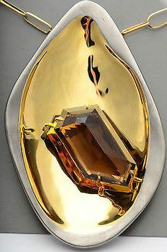 $345 New Alexis Bittar 'Miss Havisham' Long Statement Pendant Necklace Gold - http://designerjewelrygalleria.com/alexis-bittar/345-new-alexis-bittar-miss-havisham-long-statement-pendant-necklace-gold/