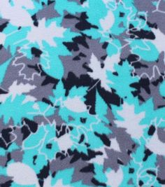 Item # 13547062Anti-Pill Fleece Fabric Leaf Camo