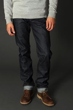 Unbranded Skinny Selvedge Jean from UO. $78.