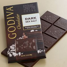 Godiva dark chocolate & sea salt bar:  Never had this but I know it's for me!  My birthday is soon everyone.