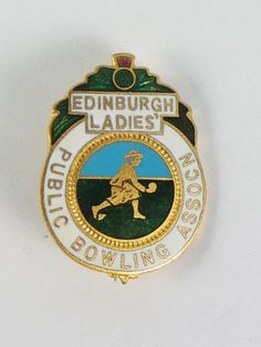 Scottish Bowling Club Badge, Edinburgh Ladies Public Bowling Association Enamel Badge