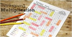 Enjoy thanksgiving and learning multiplication facts with the no prep thanksgiving multiplication pack! Tons of activities for multiplication practice! - $4