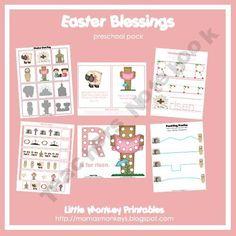 Easter Blessings Prek Pack LittleMonkeyPrintables Shop -   Teachers Notebook
