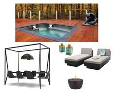 """""""Deck at the cottage"""" by stylev ❤ liked on Polyvore featuring interior, interiors, interior design, home, home decor, interior decorating, Sonax, Kate Aspen and Duffy London"""
