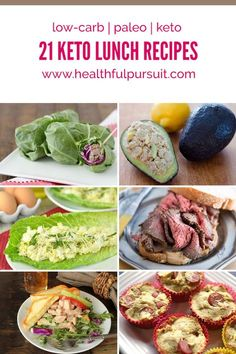 """Having trouble planning your keto lunches? Grab your keto lunch and go with these simple yet delightful low-carb lunch recipes. Say goodbye to dull and boring, and say hello to fun and exciting keto paleo lunches! Ketogenic Recipes, Low Carb Recipes, Diet Recipes, Healthy Recipes, Recipies, Diet Desserts, Ketogenic Diet Meal Plan, Keto Lunch Ideas, Lunch Recipes"
