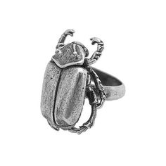 NOVICA Sterling Silver Cocktail Ring Scarab from Mexico ($140) ❤ liked on Polyvore featuring jewelry, rings, clothing & accessories, cocktail, sterling silver, cocktail rings, sterling silver crown, sterling silver rings, statement rings and novica jewelry
